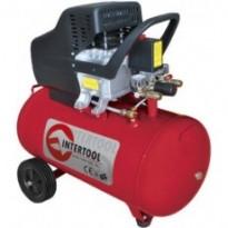 Компрессор Intertool PT-0003 (50л, 2HP, 1.5кВт, 220В, 8атм, 206л/мин.