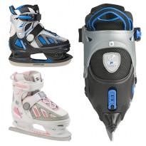 Коньки фигурные Softboot Ice Skate SFR075 (голубо-розовые)