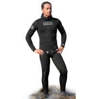 Гидрокостюм мокрый O.ME.R Gold Black wetsuits jacket+pants 5MM TG. 7  (66NGP57)