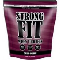 Протеин сывороточный Strong Fit Whey Protein 909 g, вкус вишневый штрудель