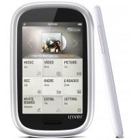 "MP3 плеер iRiver B100, 4 GB , White, 3.1"" TFT (480x320), FM тюнер, Mic, Li-Ion, microSD, 60 г"