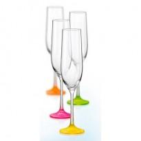 Набор бокалов Bohemia Neon шампанское, 190мл, 4шт 801304