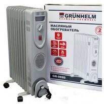 Масляный обогреватель Grunhelm GR-0920S/2,0 (2,0 кВт)