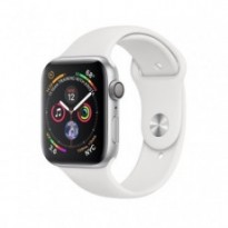 Часы Apple Watch Series 4 GPS 44mm Silver Aluminum Case with White Sport Band MU6A2