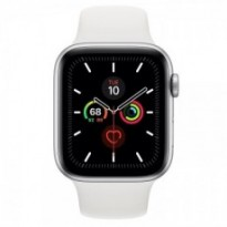 Часы Apple Watch Series 5 GPS 44mm Silver Aluminum Case with White Sport Band MWVD2