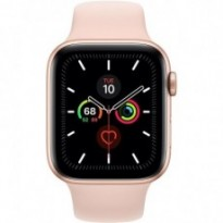 Часы Apple Watch Series 5 GPS 44mm Gold Aluminum Case with Pink Sand Sport Band MWVE2