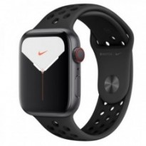 Часы Apple Watch Series 5 GPS + Cellular 44mm Space Gray Aluminum Case with Black Sport Band MWW12