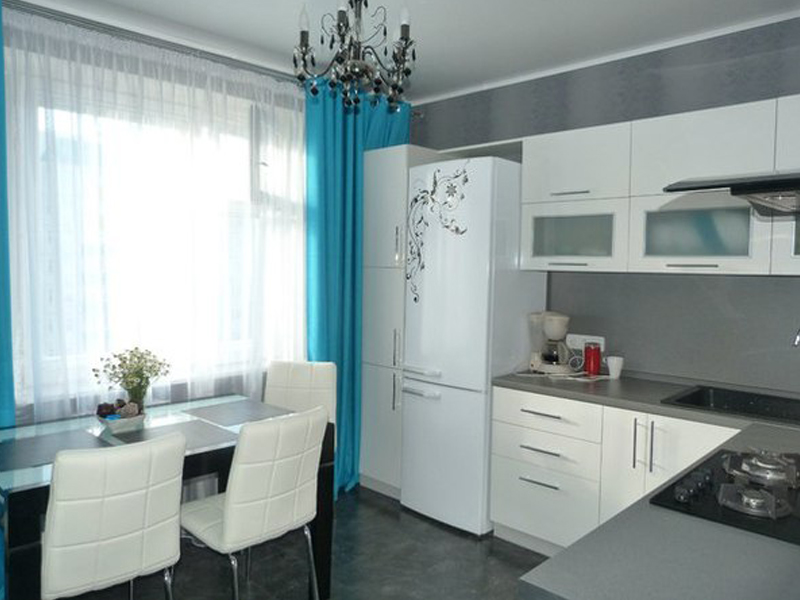 Кухня 11 кв.м дизайн белая
